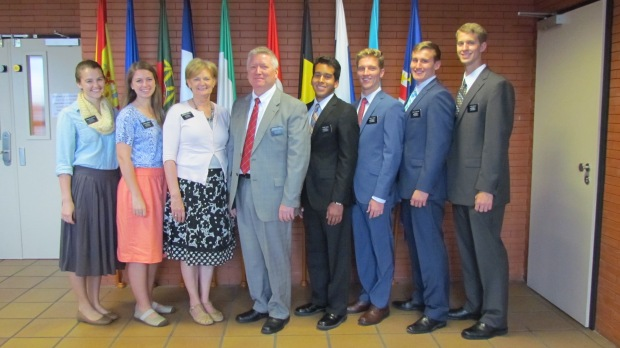 My district - my comp, Elder Merrill is on the end. With President and Sister Lovell