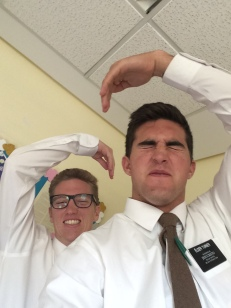 elder Turner and elder Sedgwick getting barreled
