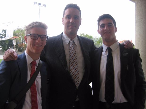 elder Turner, elder Sedgwick and Luis, one of our stellar new members