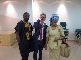 Elder Turner with Lucky and Hellen
